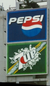 Pepsi - 7up Skysign, Singapore